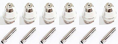 プラズマ カッター 切断機 CUT60用 チップ/ノズル まとめて6セット 消耗品