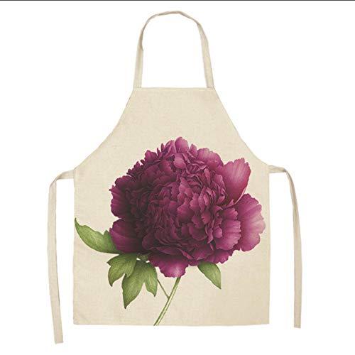 Cczxfcc 1 stuks bloemenschorten voor dames vest van katoen zonder mouwen, Home Cooking Baking Bibs reinigingsgerei 53 x 65 cm, een