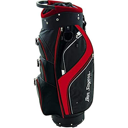 Ben Sayers DLX Cart Tasche, 8,5-Zoll-Größe, Schwarz/Rot