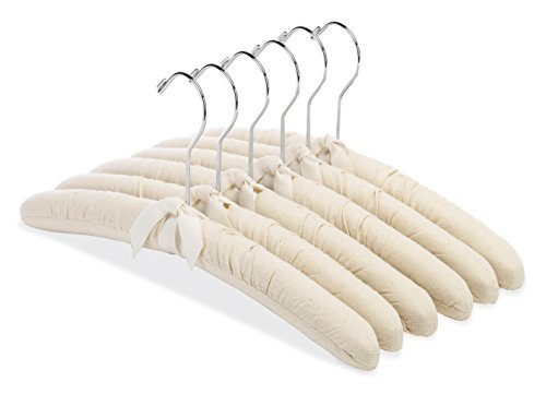 Whitmor 6139 – 47-c canvas Padded Hanger Collection Shirt/Blouse Hangers, set of 6 by