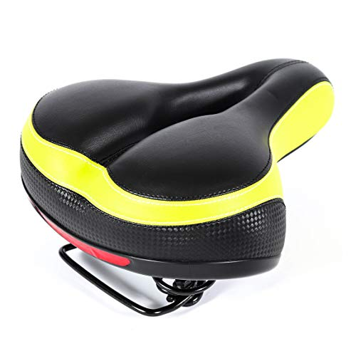 EBIKELING Most Comfortable Soft Padded Bike Seat - Bicycle Dual Shock Absorbing Wide Replacement Saddle - Universal Fit Best for Exercise & Outdoor Bicycles ebike