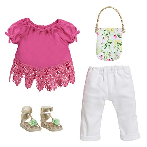 "Journey Girls 18"" Doll Fashion Set Pink Top & White Jeans - Amazon Exclusive"