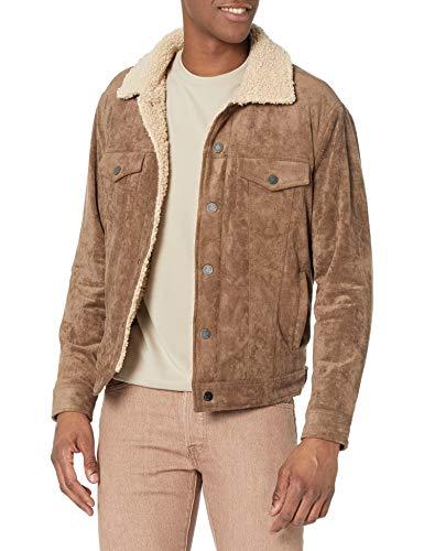 [BLANKNYC] mens Military Coat Jacket, Brown, Medium US