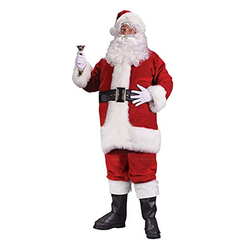 Costumes For All Occasions FW7502 Santa Suit Prem Pl. Rouge Lrg