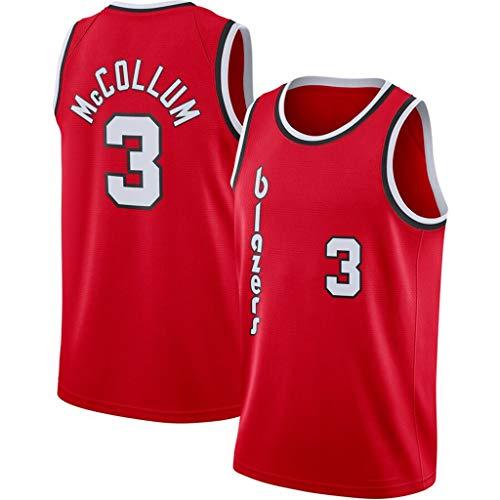 WZ NBA basketbal rode versie Jersey Portland Trail Blazer 3# CJ Mccollum mouwen sport gymnastiekvest geschikt t-shirts fans basketbal top