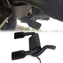 ECOTRIC MatteBlack Dual CatBack Exhaust Muffler System For 2007-2017 Jeep Wrangler JK 2/4DR