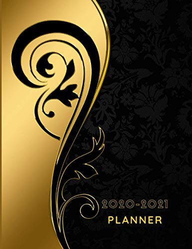 Planner 2020-2021: Vintage Gold For Women Weekly & Monthly Planner 2020-2021 Calendar with holiday, Merry Christmas Happy new year Joyeux Noël ... for Best Friends Partners Wife Girlfriend