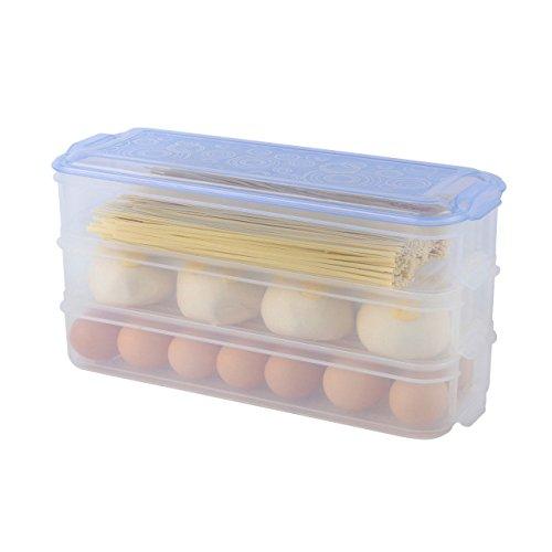 Mehrschichtige Frischebox, wiederverwendbare Plastiknahrungsmittelspeicherbehälter mit Deckeln, Kühlschrank-Schärfer-Kasten-frische Frucht-Imbiss-Speicher-Kasten