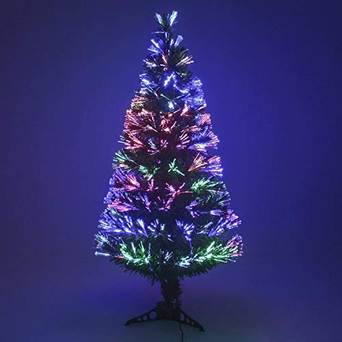 Multicolour Changing Lights 4ft Fibre Optic Tree