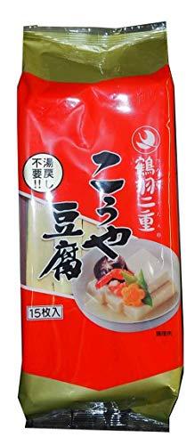 登喜和冷凍食品 鶴羽二重高野豆腐15枚ポリ 232.5g ×5袋
