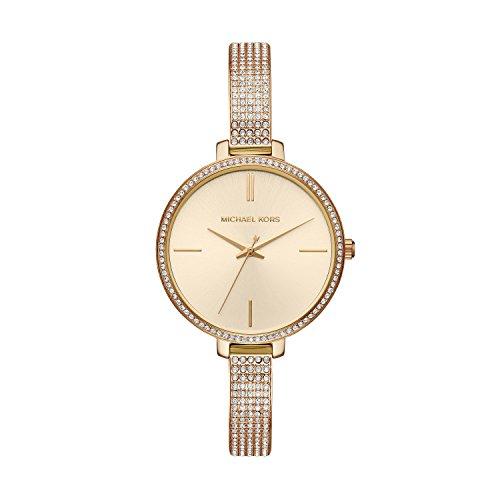 Michael Kors Damen Analog Quarz Uhr mit Edelstahl Armband MK3784