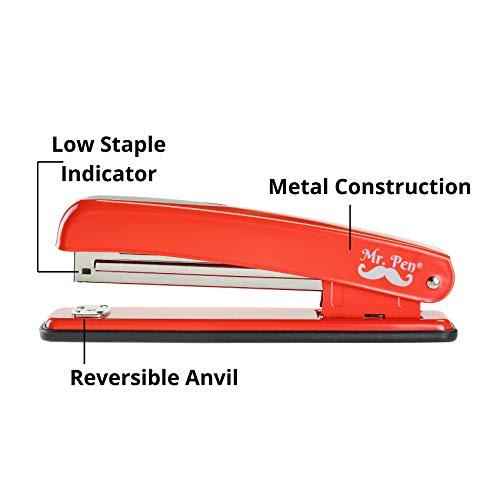 Mr. Pen- Stapler with Staples, Red Stapler, 1000 Staples, Staplers for Desk, Staplers Office, Office Stapler, Desk Stapler, Metal Stapler, Standard Stapler, Stapler and Staple, Stapler Office Supplies Photo #3