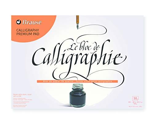 Brause 96441B Kalligraphie Block (Vélin Papier, DIN A3, 29,7 x 42 cm, 30 Blatt, 125 g) creme