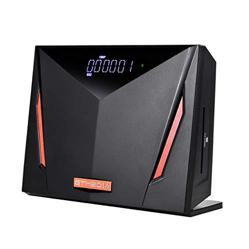 GT MEDIA 4K Receptor de Satélite Decodificador Digital Terrestre DVB-S2X/ T2/ Cable, V8 UHD Soporte 4K Ultra/ H.265/ Main 10/ PVR Timeshift/ Lector de Tarjetas Smart Card/ SCART/ con Wi-Fi