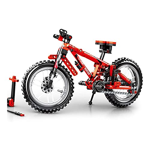 ZDVHM Micro Building Blocks Mountain Bike DIY Building Blocks Toys 3D Puzzle Model for Children's Educational Toy Creative Birthday Gifts 306+ Pcs