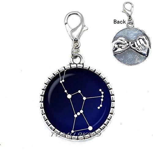 Cierre de langosta de cristal de Constelación Orion. Cielo nocturno con cierre. Estrellas de Astronomía, joyería espacial, cierre de langosta de cabujón de cristal, Y202
