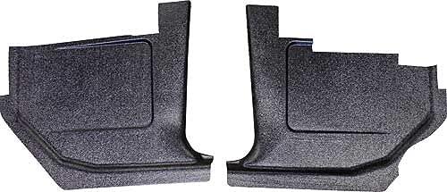 MACs Auto Parts 42-42001 -69 Fairlane-Torino-Ranchero Black Paintable Injection Molded ABS Plastic Kick Panels