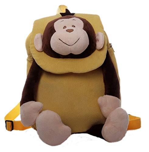 Inware 8950 - Kinder Rucksack, Motiv AFFE, gelb/beige/braun