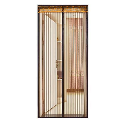 Hor hordeur Magneet Horgordijn Hor gordijn voor balkondeur Woonkamer Klittenband frame,Brown,85x210