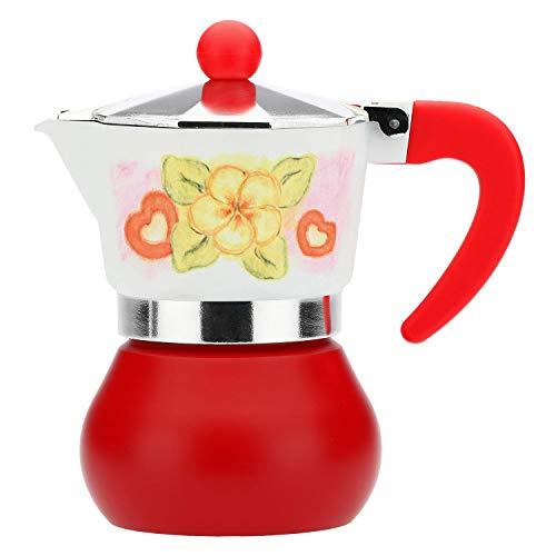 THUN - Caffettiera - Cucina, caffè al Volo - Idea Regalo - Linea Time for Tenderness - Alluminio, Nylon (Manico + Pomello) e Silicone (Guarnizione) - 8x8x13 cm; capacità 3-4 Tazzine
