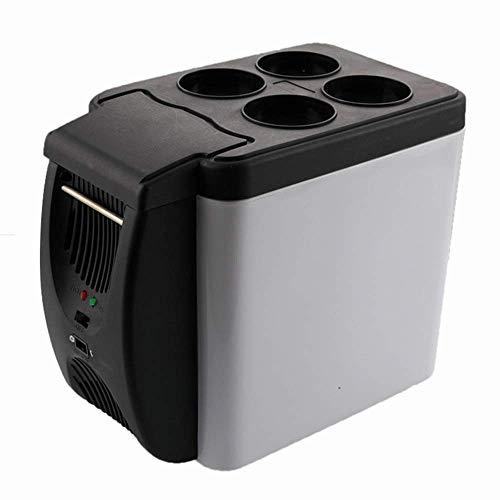 LHQ-HQ Refrigerador del coche, Viajes eléctrico enfriador y calentador - 6 litros nevera portátil con CA y CC cables de alimentación for el hogar, coche y camping, mini nevera (color, tamaño: 327x182x