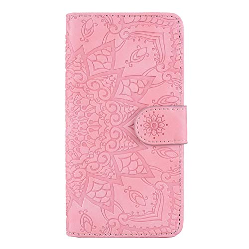 Coque pour [Xiaomi Mi 8 Lite] Protection Housse en Cuir PU Pochette,[Emplacements Cartes],[Fonction Support],[Languette Magnétique] pour Xiaomi Mi8 Lite - DEHF010616 Rose