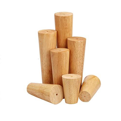 JIE. Sofa-Beine aus massivem Holz Tischbeine Schrankfüße Holzfüße Sofabeine TV-Schrankfüße Holzbeine Stühle erhöhte Möbelmatten -4pc,Straightmouth,15cm