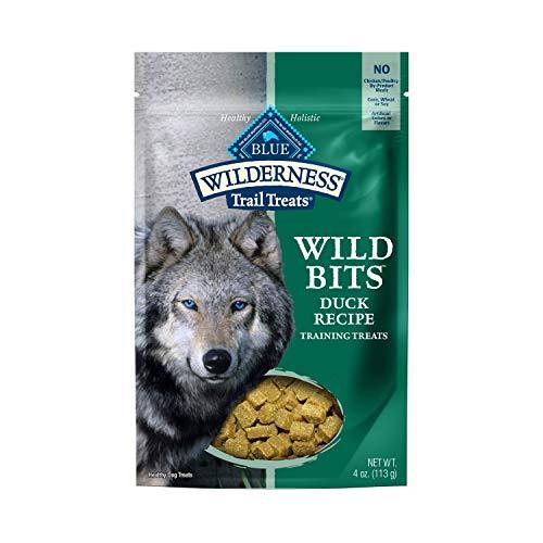 Blue Buffalo Wilderness Trail Treats Wild Bits Grain Free Soft-Moist Training Dog Treats, Duck Recipe 4-oz bag, Model:800068