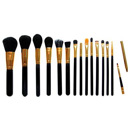 15pcs Maquillage Pro pinceaux de maquillage Kit brosse outil