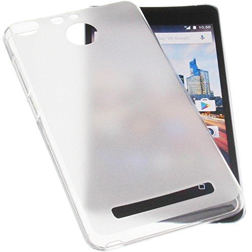 foto-kontor Tasche für Archos 50f Helium Gummi TPU Schutz Handytasche transparent weiß