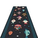 Alfombras Cocina Pasillo corredor Alfombra, marina modelo de pescado de la alfombra corredores, moderno y minimalista Estilo Europeo Y Americano antideslizante y resistente al desgaste Largo Corredor