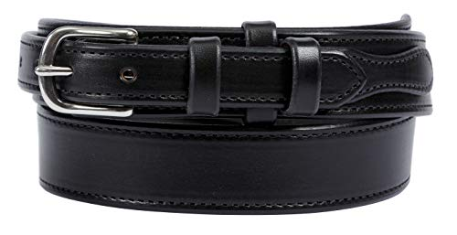 Forest Hill, Ranger Gun Belt, Heavy Duty, 1-1/2' Solid Leather, Amish Made, by Hand in Lancaster, PA … (40, Black)