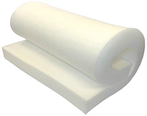 FoamRush Espuma de alta densidad para tapicería cojín (reemplazo de asiento acolchado de espuma, tapicería de repuesto) fabricado en EE.UU.