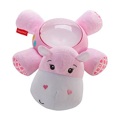 Fisher-Price FGG89 Schlummerlicht Spieluhr Nachtlicht mit Sternenlicht inkl. Melodien und Naturgeräusche, ab 0 Monaten, rosa