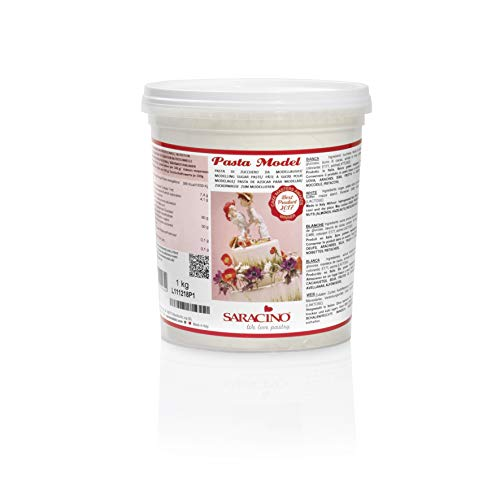 Saracino Pasta fondant Model Blanca Para modelar De 1 kg Sin gluten Made in Italy