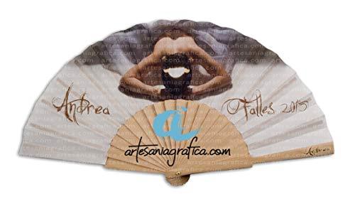 ABANICOS PERSONALIZADOS DE MADERA. Abanicos de madera impresos en la tela a todo color, se venden en lotes de 1, 2, 5, 10 ó 25 abanicos. (1)