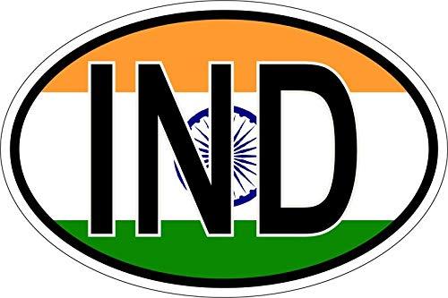 Akachafactory sticker nationale kentekenplaat vlag vlag IND India