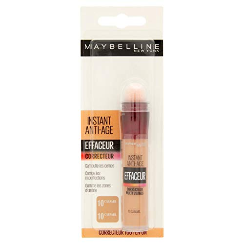 Maybelline New York /borrador para ojos 10 Caramel corrector - Corrector (Piel café, Piel Medio, Caramel, Anti-arrugas, 20 mm, 56 mm, 157 mm)
