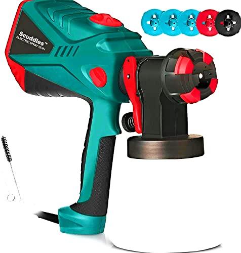 Scuddles Paint Sprayer, 1200 Watt HVLP Paint Gun For...