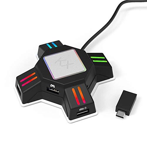 Adattatore per tastiera e mouse RALAN, convertitore controller per Nintendo Switch PS4 PS4 Pro PS4 Slim XBOX PS3 PS3 Slim Keyboard Adapter. perfetto per giochi come FPS, TPS, RPG e RTS, ecc.