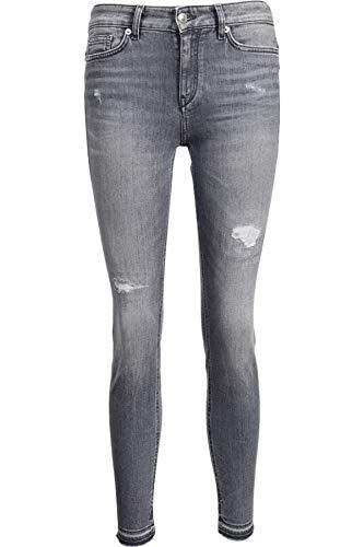 Drykorn Damen Jeans Need mit Destroyed-Effekten grau 27W / 34L