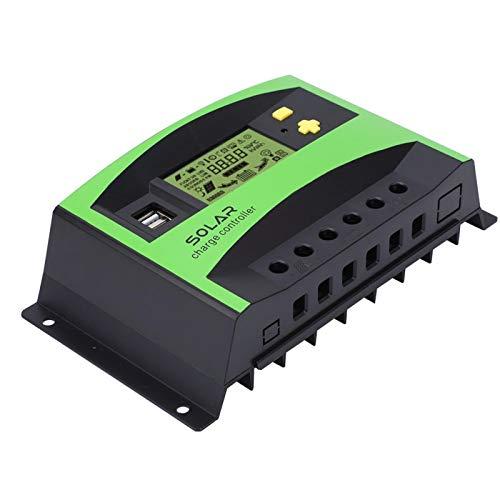 Regulador de carga solar 40A 12V / 24V Controlador solar simple 28-10AWG Cargador solar para energía solar
