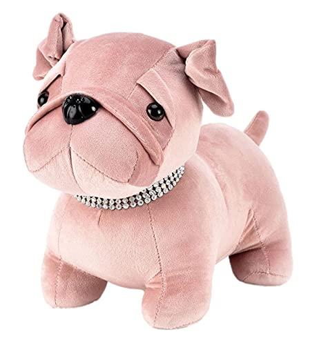 Widdop HESTIA HE1772 - Tope para puerta de perro de terciopelo rosa...