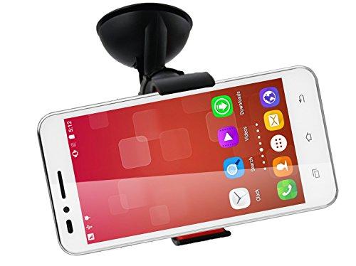 Emartbuy® Universal Handyhalterung Armaturenbrett/Windschutzscheibe Schwarz fürgeeignet Landvo V1