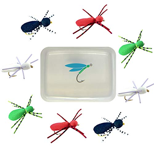 Thor Outdoor Foam Spider - 8 Pc Kit with Fly Trap - Topwater Fly...
