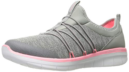 Skechers Damen Synergy 2.0 - Simply Chic Slip On Sneaker, Grau (Grey/pink), 36 EU