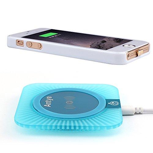 Antye Kit Qi caricatore senza fili per iPhone 5/5S/SE,Compreso Caso Ricevitore wireless Qi e la stazione Pad Qi wireless caricatore