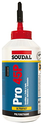 Soudal Pro 45P Polyurethan-Kleber, wasserfest, schnelltrocknend, 750 g