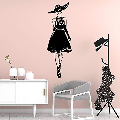 hetingyue Rok vrouw moderne zelfklevende vinyl proof waterdichte muur kunst applique kinderkamer decoratie art decal