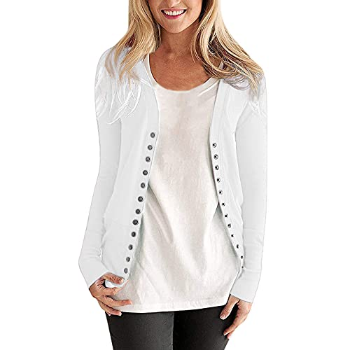 Cardigans for Women uk Long Sleeve Button Down Long Knitted Cardigans Outwear